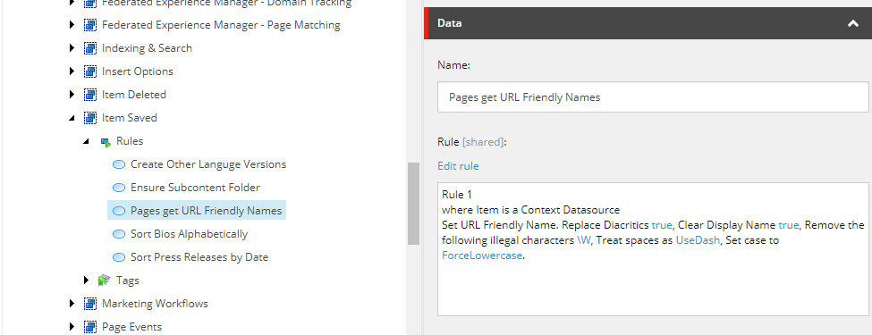 URL Friendly Page Names – Constellation for Sitecore